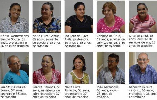 Dez servidores participaram da cerimônia de concessão na sede do Instituto de Previdência